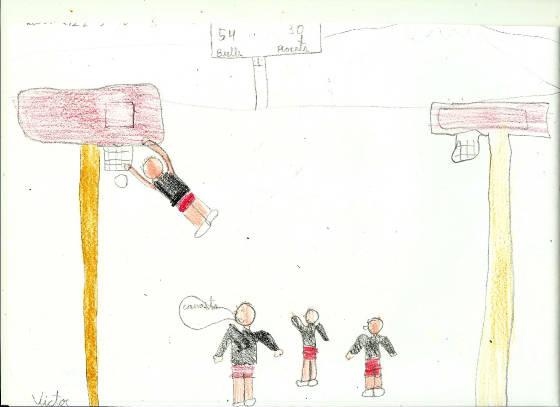 LOS DEPORTES. El baloncesto ( 8 dibujos)