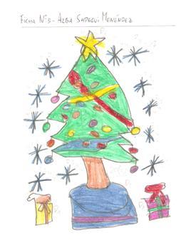 Dibujos De Navidad Hechos Por Ninos.Dibujo Por Temas La Navidad 1